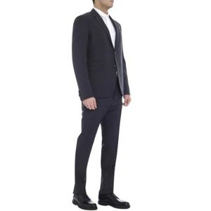 Valentino ITALIAN wool charcoal 3 button suit 44R